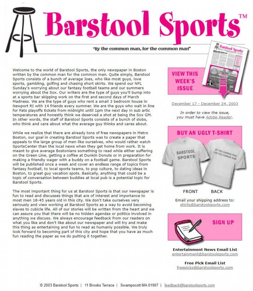 barstool sports company history