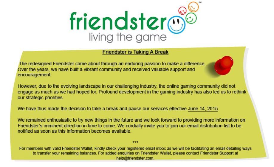 friendster shutdown